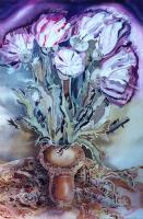 Цветущий татарник